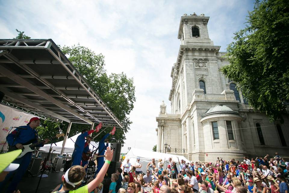 move & groove at basilica block party outdoor concert