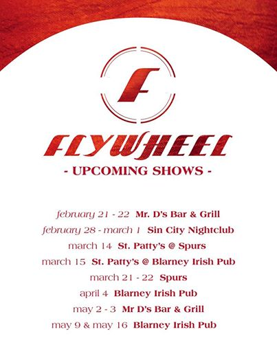 Flywheel upcoming shows
